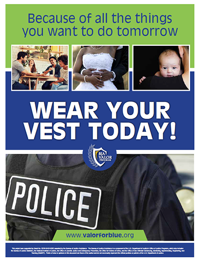 "Promotional Poster Image for ""Wear Your Vest Today!"""