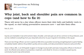 Image for Why Joint, Back, and Shoulder Pain Are Common in Cops (And How to Fix It)