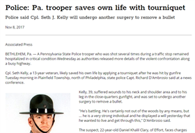 Image for Pennsylvania Trooper Saves Own Life With Tourniquet