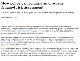 Image for How Police Officers Can Conduct an On-Scene Fentanyl Risk Assessment