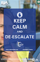 Image for Keep Calm and De-Escalate Poster