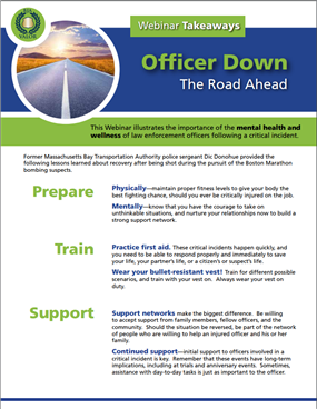 Image for Officer Down: The Road Ahead Key Takeaways