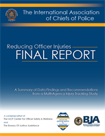 Image for Reducing Officer Injuries: Final Report