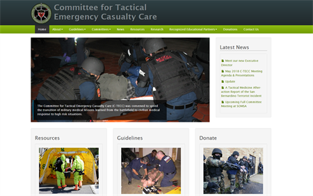 Image of website with tourniquets in use on a victim