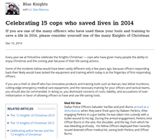 Image for Celebrating 15 Cops Who Saved Lives in 2014