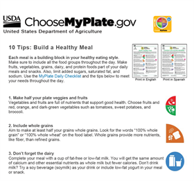 Image for 10 Tips: Build a Healthy Meal