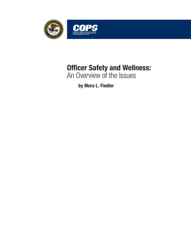 Printable Document about officer safety, health, and wellness